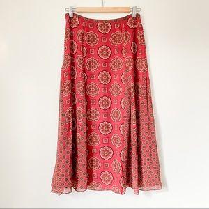 2 for 20$ - Vtge silk paisley skirt